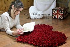 Cómo hacer una alfombra de trapillo en forma de corazón
