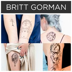 Geeky art by Britt Gorman. | 15 Incredible Artists Who Will Change Your Mind About Temporary Tattoos