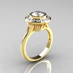 Classic 10K Yellow Gold 10 Carat CZ Diamond Bridal by artmasters, $1649.00