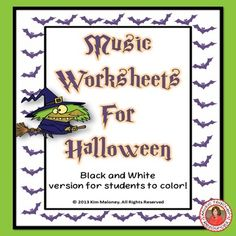 MUSIC Halloween Worksheets B/W  24 Music theory worksheets.  ♫  CLICK through to preview or save for later!  ♫