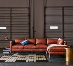Burbank sectional by Elite Leather Co. / American Custom Made Furniture