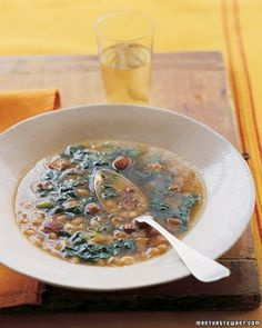 """Martha Stewart. See the """"White Bean and Bacon Soup with Escarole"""" in our Bacon Recipes gallery"""