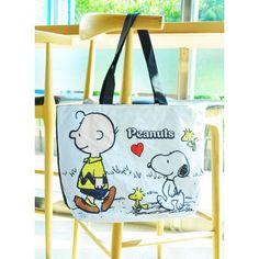 Snoopy Charlie Brown Women's Canvas Shopping Tote Bag Handbag