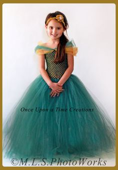 Merida Inspired Princess Tutu Dress - Birthday Outfit - Halloween Costume -- Disney Pixar Brave Inspired... could be a DIY project (in either  adult or child's size)
