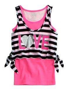 Striped Crop Over Long Top Cute Gym Outfits, Summer Outfits, Girl Outfits, Justice Clothing, Justice Shirts, Justice Store, Tween Mode, Crop Over, Tween Fashion