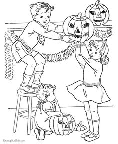 Printable Halloween Coloring Pages | These free, printable Halloween coloring pages provide hours of fun ...