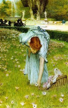 #art #garden #paint #women #beautiful #arte #quadro