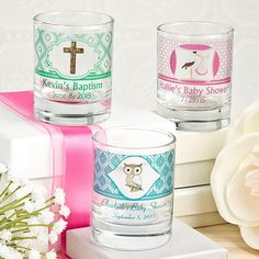 Baby Clearly Custom Round Shot Glass/Votive Candle Holder