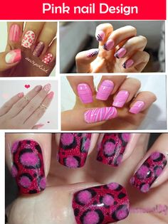 Pretty in Pink Nail Design For Summer
