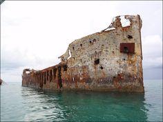 Bimini, Bahamas... Concrete Ship, Good Snorkeling
