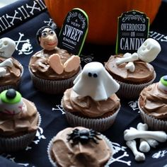 Spooky Halloween Chocolate Cupcakes