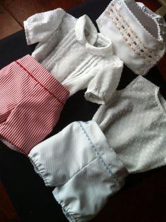 Pantalon, camisa y cubrepañal, disponible en varias tallas y colores. turopitainfantil.blogspot.com.es