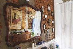 Decoração de: Detalhes; parede de tijolos; Casa de Valentina