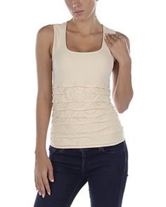 Last Tango Puckered Rouched Seamless Tank SM Macademia -- Learn more by visiting the image link.