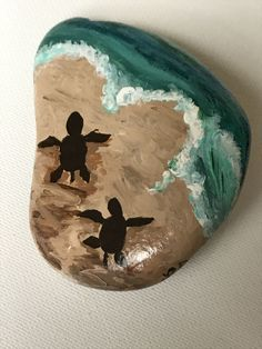 Beach rock paintings