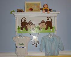Jungle Nursery decorative shelf redo
