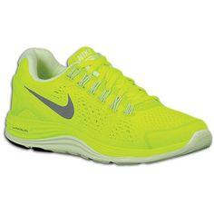 holy bright kicks! :D  Nike LunarGlide+ 4 - Women's - Running - Shoes - Volt/Barely Volt/Reflect Silver