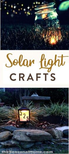 Do you have any solar lights in your yard? They make it so easy to light up your yard, driveway, and walkway without having to run any wires. But did you know that you can create some pretty amazing solar light craft projects too? #diy #crafts #teencrafts #projects #diycrafts #diyprojects #fundiys #funprojects #diyideas #craftprojects #diyprojectidea #teencraftidea #homedecor Hanging Mason Jar Lights, Mason Jar Light Fixture, Solar Mason Jars, Mason Jar Lighting, Mason Jar Diy, Solar Shed Light, Solar Light Crafts, Diy Solar, Solar String Lights
