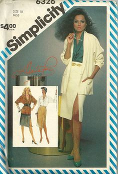1983 Diana Ross Simplicity Pattern