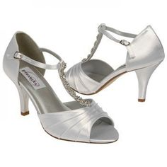 White Dyeables Makayla Bridal Shoes