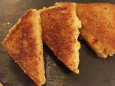 Damaris Phillips' grilled pimento cheese sandwiches. Pairs nicely with her homemade tomato soup.