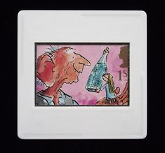The BFG, a wonderful children's fantasy was written by Roald Dahl and published in Quentin Blake's unmistakable illustration adorns this Royal Mail first class stamp issued in 1993 Bfg Roald Dahl, The Enormous Crocodile, First Class Stamp, Ice Dragon, Quentin Blake, Treasure Island, Royal Mail, Red Riding Hood