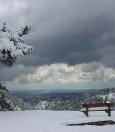 Troodos mountains blanketed in snow, Cyprus Cyprus Island, Paphos, Aphrodite, Taxi, Scenery, Europe, Mountains, Winter Snow, Articles