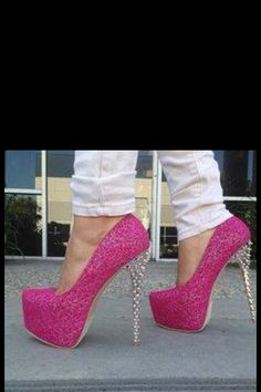 Sexy High Heels, Lingerie, Pink Sparkly, Pink Glitter, Pink Bling 202fbc3bf3