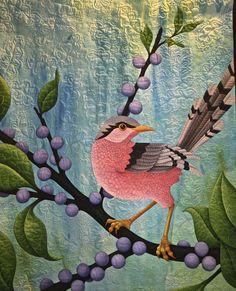 Pink Bird – by Judy Coates Perez, Sacramento, California, USA.  2015 Houston International Quilt Festival.  Photo by Pam Holland.