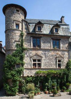 private Renaissance hotel in Sainte Eulalie d'Olt (Les Plus Beaux Villages de France), Aveyron, Midi-Pyrenees_ France