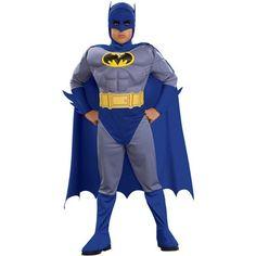 DisfracesMimo, disfraz batman brave the bold musculoso niño varias tallas.De la marca Rubies y el producto con licencia oficial dc comics donde podras mas disfraces de superheroes y comic en su tematica. En todas sus apariciones como Batman, Wayne se disfraza de murciélago.