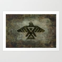 Emblem of the Anishinaabe people - Vintage version Art Print by LonestarDesigns2020 - Flags Designs + - $15.00
