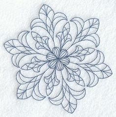Intricate Snowflake A Embroidered Flour Sack Hand/Dish Towel. $12.99, via Etsy.