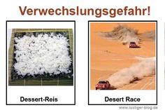 Verwechslungsgefahr Dessert-Reis