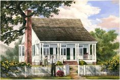 Cajun Cottage by William Poole - love this house Acadian Style Homes, Acadian House Plans, Cottage Floor Plans, Cottage Style Homes, Cottage House Plans, Cottage Design, House Design, Farm House, Farm Life
