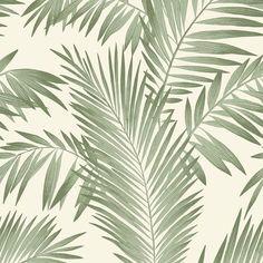 Wallpaper Palm Leaf Wallpaper, Tropical Wallpaper, Botanical Wallpaper, Metallic Wallpaper, Embossed Wallpaper, Green Wallpaper, Wallpaper Panels, Wallpaper Roll, Nature Wallpaper