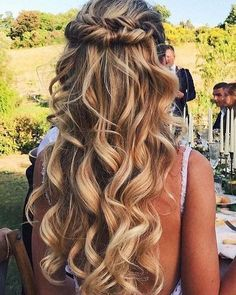 50 Wedding Hairstyles for Long Hair - 50 Hochzeitsfrisuren Wedding Hairstyles For Long Hair, Trendy Hairstyles, Braided Hairstyles, Updos Hairstyle, Hairstyle Ideas, Hairstyle Wedding, Asymmetrical Hairstyles, Layered Hairstyles, Hairstyles 2018
