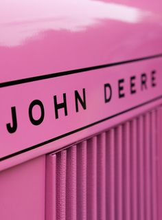 John Deere Pink Tractor