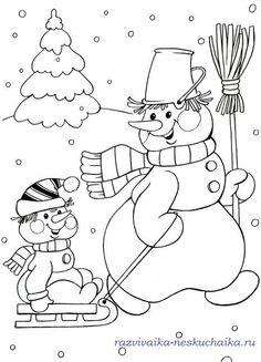 SNOWMAN PULLING BABY SNOWMAN