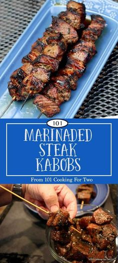 Everybody will love these marinaded steak kabobs. Easy enough for family dinners but eloquent enough for company. Marinated Steak Kabobs Everybody will love these marinaded steak kabobs. Easy enough for family dinners but eloquent enough for company. Shish Kabobs Marinade, Marinated Steak Kabobs, Beef Skewers, Marinade For Beef, Kebabs, Beef Kabob Recipes, Pork Rib Recipes, Grilling Recipes, Cooking Recipes