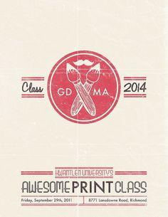 GDMA Print Tech Poster by Kristian Hay, via Flickr