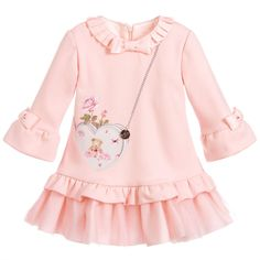 Pink Jersey Ruffle Dress for Girl by Lapin House. Discover more beautiful designer Dresses for kids online Baby Girl Party Dresses, Little Girl Dresses, Baby Dress, Girls Dresses, Ruffle Dress, Strapless Dress, Little Girl Fashion, Toddler Fashion, Kids Fashion