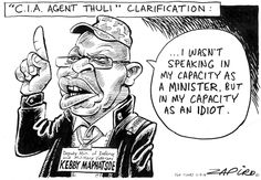 Zapiro: Kebby Maphatsoe's Thuli Madonsela clarification - The Mail & Guardian I Laughed, Joker, Public, Cartoons, South Africa, Quotes, Image, Quotations, Cartoon