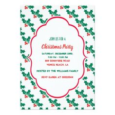 Christmas Invite  $2.16  by HolidayCardsAndGifts  - cyo diy customize personalize unique