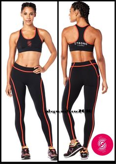 2c0811e2e5df3 STRONG By Zumba Piped Leggings - Bold Black Style  Z1S00048