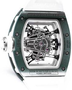 "700 Likes, 2 Comments - Richard Mille Europe (@richardmilleeurope) on Instagram: ""Caliber RM 38-01 Tourbillon G-Sensor @bubbawatson A timepiece that combines a patented G-sensor…"""