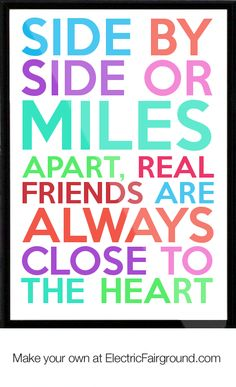 One Sided Love Poems For Him | Side-by-side-or-miles-apart-real-friends-are-always-close-to-the-heart ...
