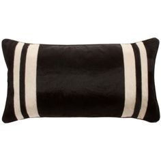 V Rugs & Home Marty Bolster Decorative Pillow ($337) ❤ liked on Polyvore featuring home, home decor, throw pillows, pillow, stripe throw pillows, contemporary throw pillows, black and white accent pillows, black and white throw pillows and black and white striped throw pillows