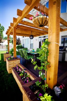 Pergola To House Attachment Info: 6758157441 Small Pergola, Pergola Patio, Small Patio, Backyard Patio, Backyard Landscaping, Pergola Plans, Building A Floating Deck, Porch Makeover, Outside Living