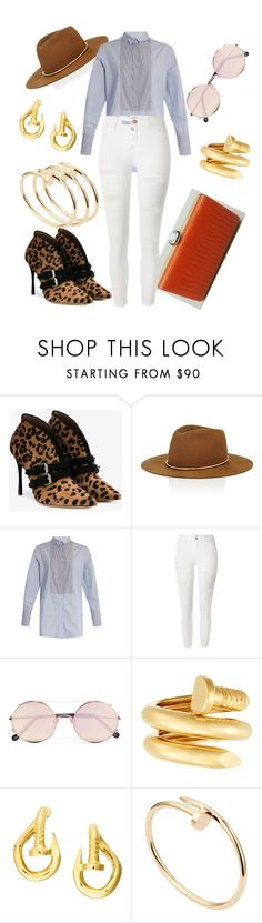 """""""Nailed It Style"""" by stylistinme ❤ liked on Polyvore featuring Tabitha Simmons, Janessa Leone, Rachel Comey, River Island, Sunday Somewhere, David Webb and Cartier"""